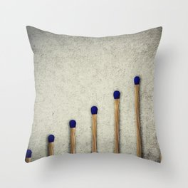 whole matches stairsteps Throw Pillow