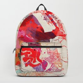 Vallejo map California painting Backpack