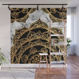 Gold Lace on Marble Wall Mural