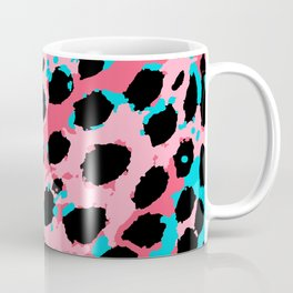 Cheetah Spots in Soft Pink and Blue Coffee Mug