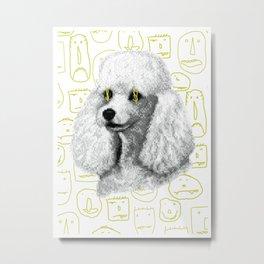 Poodle Print Metal Print