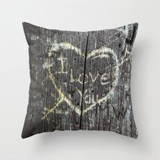 The Carving Tree - I Love You Throw Pillow