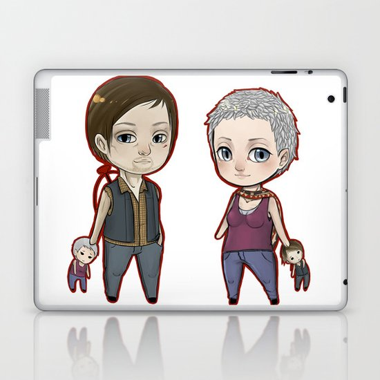 Carol/Daryl Chibis The Walking Dead Laptop & iPad Skin
