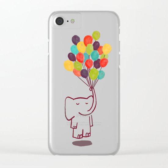 Flying Elephant Clear iPhone Case