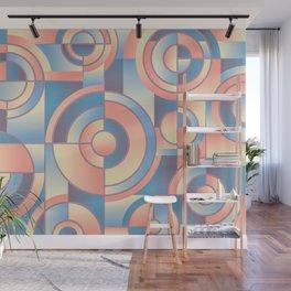 Retro Circles Wall Mural