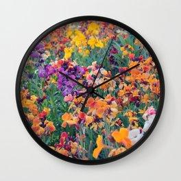 COLOUR POP // SPRING FLOWERS  Wall Clock