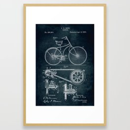 1890 Bicycle Patent Framed Art Print