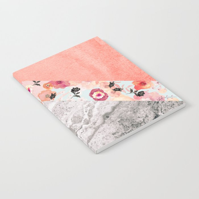 MIX IT BABY - CORAL MARBLE Notebook