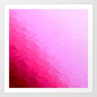 hot pink Art Prints featuring Pink Ombre by Simply Chic