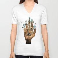stargate V-neck T-shirts featuring Stargate by Sandra Dieckmann