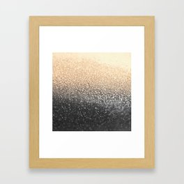 GOLD BLACK Framed Art Print