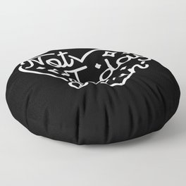 not today satan (b&w) Floor Pillow