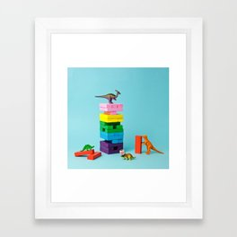 Dinosaur games Framed Art Print