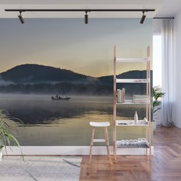Fishing in the Morning Mist Wall Mural