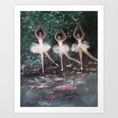 Ballerinas in the Park Art Print