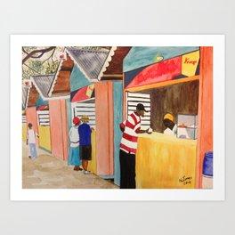 Carnival Stands Art Print