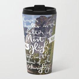 Psalm 91 with Background Metal Travel Mug