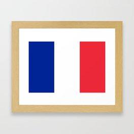 Flag of France, HQ image Framed Art Print