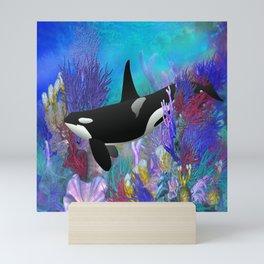 Under The Sea Orca Killer Whale Mini Art Print