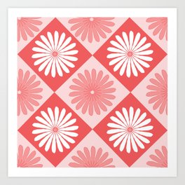 Daisy Argyle Red Art Print