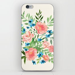 Watercolor Peonies iPhone Skin