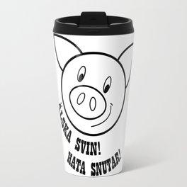 Älska svin! Hata snutar! Travel Mug