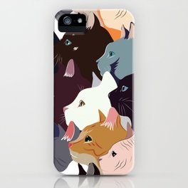variety of cats iPhone Case