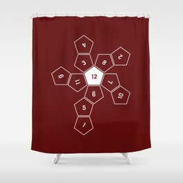 Unrolled D12 Shower Curtain