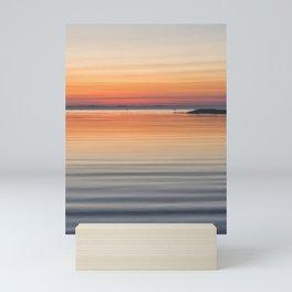 Ripples sea and sky Mini Art Print