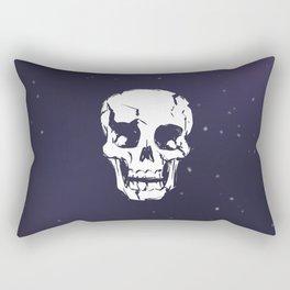 Cracked Up Skull in Space Rectangular Pillow
