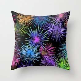 Colorful Fireworks Graphic pattern Design Throw Pillow