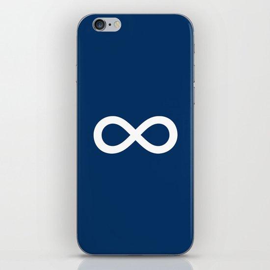 Navy Blue Infinity iPhone & iPod Skin