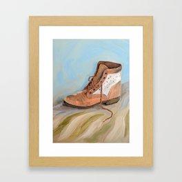 Shoe made for walking Framed Art Print