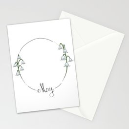 May - Flower Months  Stationery Cards