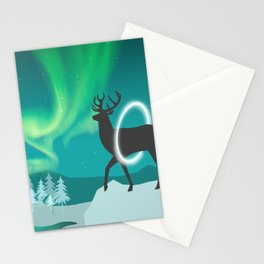 Magic Deer of the North Selas Aurora Borealis Stationery Cards