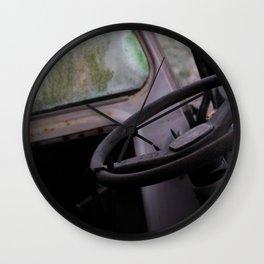 Abandoned car Wall Clock