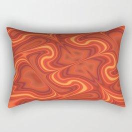 Fiery Fire Rectangular Pillow