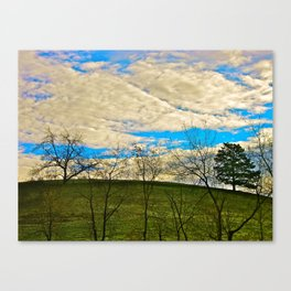 Morning at the Top of the Hill Canvas Print