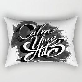 Calm your tits Rectangular Pillow