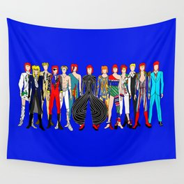 Blue Heroes Group Fashion Outfits Wall Tapestry
