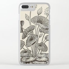 Water Lillies Clear iPhone Case