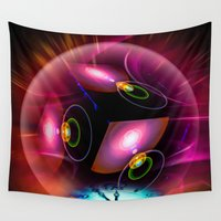 carpe diem Wall Tapestries featuring Carpe Diem by Walter Zettl