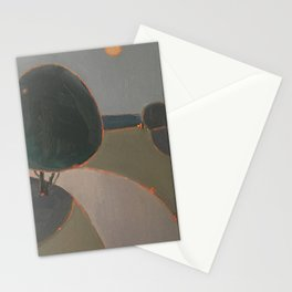 Moon over the road Stationery Cards