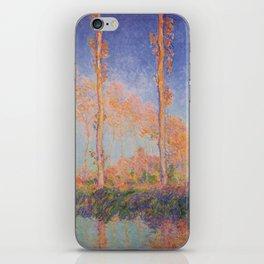 Poplars, Philadelphia by Claude Monet iPhone Skin
