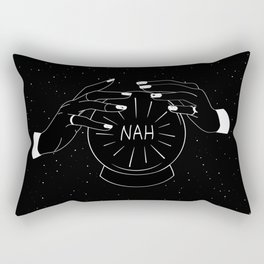 Nah future - crystal ball Rectangular Pillow