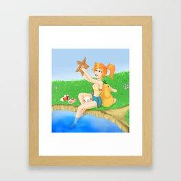 Misty Summer's Day Framed Art Print