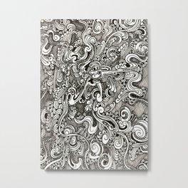 Tangling lines Metal Print