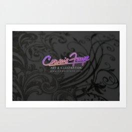 conniefaye logo Art Print