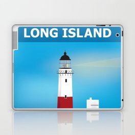 Long Island, New York - Skyline Illustration by Loose Petals Laptop & iPad Skin