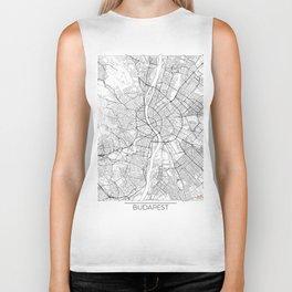 Budapest Map White Biker Tank